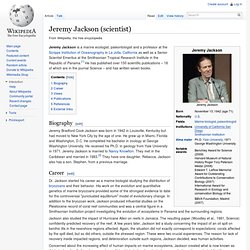 Jeremy Jackson (scientist)