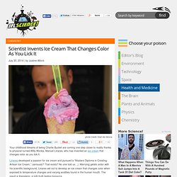Scientist Invents Ice Cream That Changes Color As You Lick It