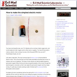 How to make the simplest electric motor