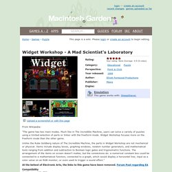 Widget Workshop - A Mad Scientist's Laboratory - Macintosh Garden