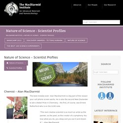 Nature of Science - Scientist Profiles - MacDiarmid Institute