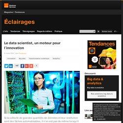 Le data scientist, un moteur pour l'innovation