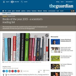Books of the year 2015 - a scientist's reading list