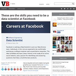 These are the skills you need to be a data scientist at Facebook