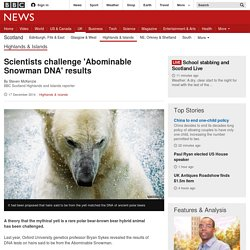 Scientists challenge 'Abominable Snowman DNA' results