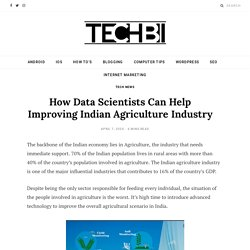 Role of Data Scientists in Agriculture Industry - Great Learning