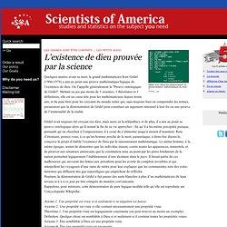 Lexistence de dieu prouvée par la science