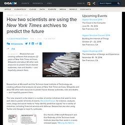2 – Les archives du Times pour décrire l'avenir