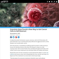 Scientists have found a new way to get cancer cells to self-destruct