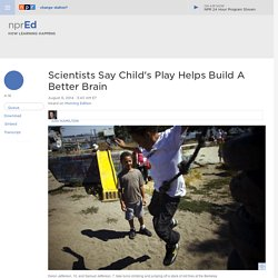 Scientists Say Child's Play Helps Build A Better Brain : NPR Ed