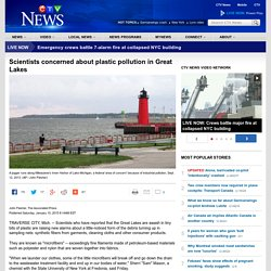 AP 10/01/15 Scientists concerned about plastic pollution in Great Lakes
