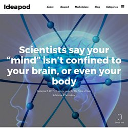 """Scientists say your """"mind"""" isn't confined to your brain, or even your body - Ideapod"""