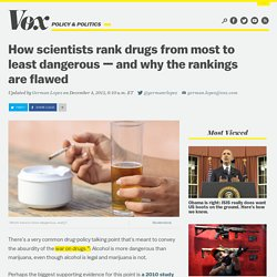 How scientists rank drugs from most to least dangerous — and why the rankings are flawed