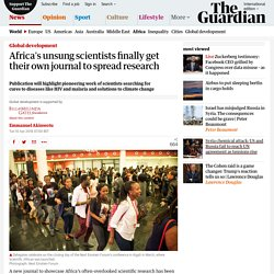 Africa's unsung scientists finally get their own journal to spread research