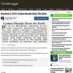Scientists in 1932: Carbon Dioxide Heats The Earth