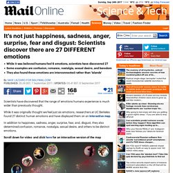Scientists discover there are 27 DIFFERENT emotions