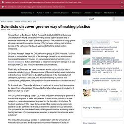 Scientists discover greener way of making plastics