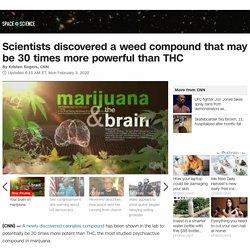 Scientists discovered a weed compound that may be 30 times more powerful than THC