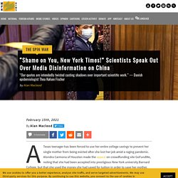 """""""Shame on You, New York Times!"""" Scientists Speak Out Media Disinformation China"""