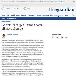 Scientists target Canada over climate change | Environment