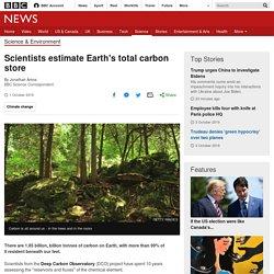 Scientists estimate Earth's total carbon store