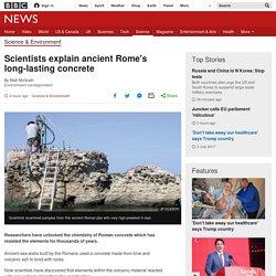 Scientists explain ancient Rome's long-lasting concrete