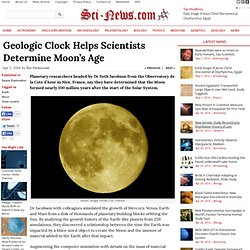 Geologic Clock Helps Scientists Determine Moon's Age