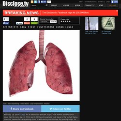Scientists Grow First Functioning Human Lungs