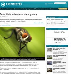 Scientists solve forensic mystery