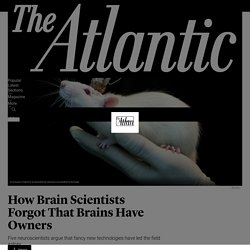 How Brain Scientists Forgot That Brains Have Owners - The Atlantic