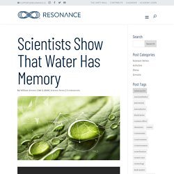 Scientists Show That Water Has Memory - Resonance Science Foundation