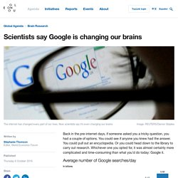 Scientists say Google is changing our brains