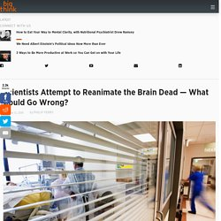 Scientists Attempt to Reanimate the Brain Dead. What are the Implications?