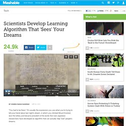 Scientists Develop Learning Algorithm That 'Sees' Your Dreams