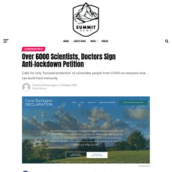 Over 6000 Scientists, Doctors Sign Anti-lockdown Petition