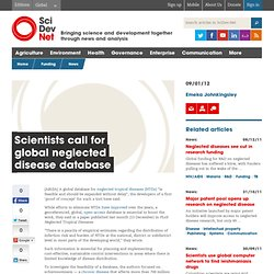 Scientists call for global neglected disease database
