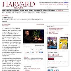 Network scientists at Harvard: Nicholas Christakis, Laura Bogart