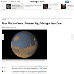 Ancient Mars Had an Ocean, Scientists Say