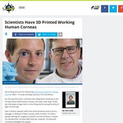 Scientists Have 3D Printed Working Human Corneas
