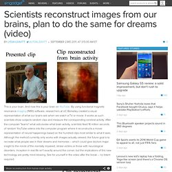 Scientists reconstruct images from our brains, plan to do the same for dreams (video)