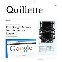 The Google Memo: Four Scientists Respond - Quillette