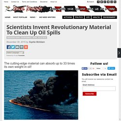 Scientists Invent Revolutionary Material To Clean Up Oil Spills