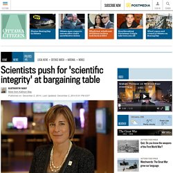 Scientists push for 'scientific integrity' at bargaining table