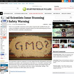 Global Scientists Issue Stunning GMO Safety Warning
