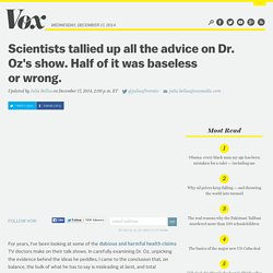 Scientists tallied up all the advice on Dr. Oz's show. Half of it was baseless or wrong.