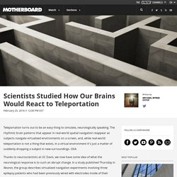 Scientists Studied How Our Brains Would React to Teleportation