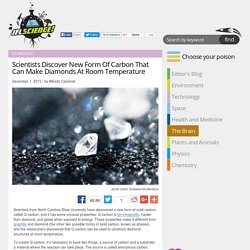 Scientists Discover New Form Of Carbon That Can Make Diamonds At Room Temperature