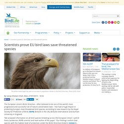 Scientists prove EU bird laws save threatened species