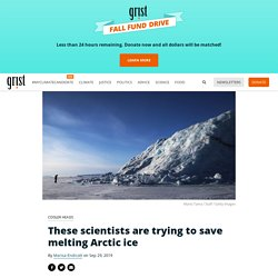 These scientists are trying to save melting Arctic ice