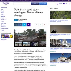 Scientists sound storm warning on African climate change